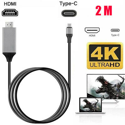 $7.99 • Buy USB-C Type C To HDMI HDTV TV Cable Adapter For Samsung Galaxy S10 Note 9 MacBook