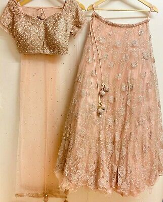 £500 • Buy Bridal Lengha Brand New Pink & Rose Gold, Frontier Raas, Asian Indian Pakistani