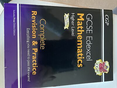 £1 • Buy Cgp Gcse Revision Books Maths Higher Level Edexcel For New Grade 9-1 Exams