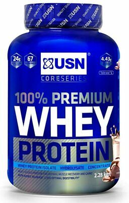 £39.99 • Buy USN 100% Premium Whey Protein 2.28kg Concentrate & Isolate Chocolate