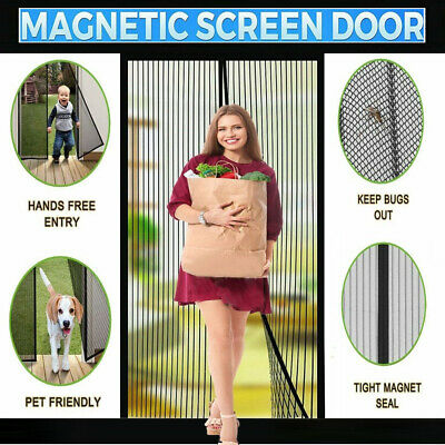 £7.99 • Buy Magic Curtain Door Mesh Magnetic Fastening Mosquito Fly Bug Insect Net Screen UK