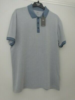 £9.99 • Buy M&s Marks & Spencer Blue Soft Touch Polo T-shirt Uk Size M
