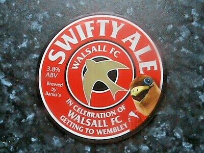 £11.99 • Buy Banks's Swifty Ale Beer Pump Clip Front Walsall Football Club At Wembley 2015