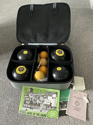 £40 • Buy Henselite Classic Lawn Bowls - Size 4  And Henselite Carrier