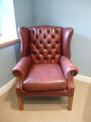 £145 • Buy Oxblood Chesterfield Wing Back Arm Chair