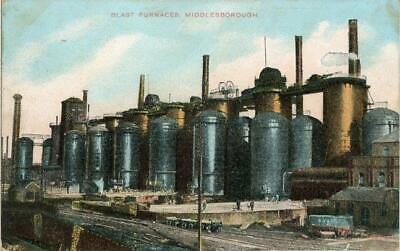 £6.50 • Buy Printed Postcard Of The Blast Furnaces, Middlesbrough, North Yorkshire 1