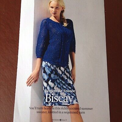 £2.65 • Buy THE KNITTER - Bergere De France - BISCAY - Ladies Sweater, Knitting Pattern