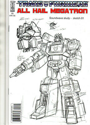 £13.65 • Buy TRANSFORMERS All Hail Megatron #2 Soundwave Guido Guidi Sketch VARIANT 2008