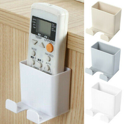 AU5.37 • Buy Universal White Air Conditioner Remote Control Holder Wall Mounted Box Storage