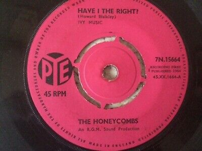 £3.99 • Buy The Honeycombs Have I The Right 1964 Uk Pye Records 7  45 7n.15664