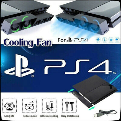AU17.99 • Buy For PS4 Stand Vertical Cooling Fan Play Station 4 External Temperature Cooler