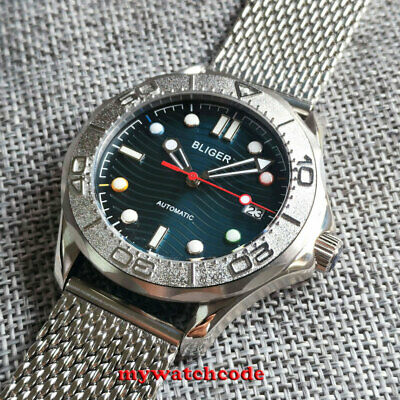 $ CDN109.23 • Buy  41mm Bliger Blue Dial Color Marks Sapphire Glass NH35A Automatic Mens Watch