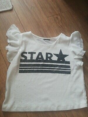 £8 • Buy Star GUESS TOP Size Uk8 White/black