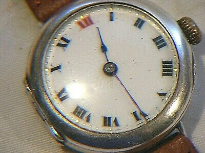 £1450 • Buy Antique Rolex Officers Trench Watch Solid Silver 1917