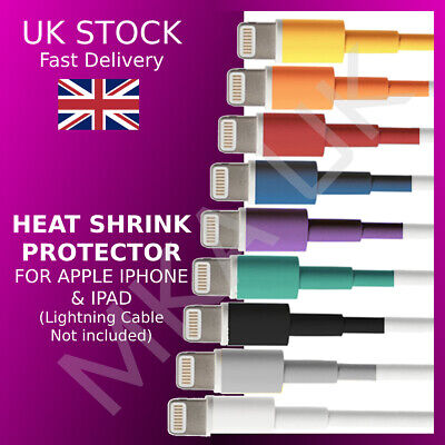£3.49 • Buy Cable Protector Saver For Apple IPhone IPad USB Charger   Cable Labels MultiPack