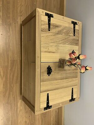 £165 • Buy Hand Made Solid Wooden Chest Trunk Box Coffee Table , Wheels Exotic Wood