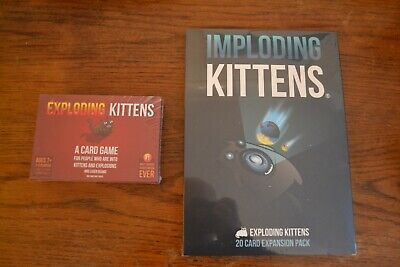 AU38.50 • Buy Exploding Kittens AND Imploding Kittens Expansion. Brand New & Sealed. Free P&P