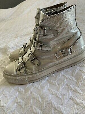 £18.50 • Buy Ash Silver High Top Trainers Size 6
