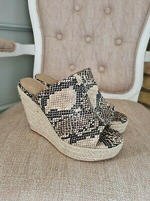 £8 • Buy Missguided Double Strap Clear Wedge Shoes Size Uk 6