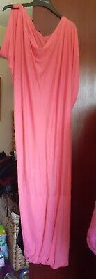 £17 • Buy Used Coral Vivienne Westwood Anglomania Long Twisted Drape T-Shirt Dress XL