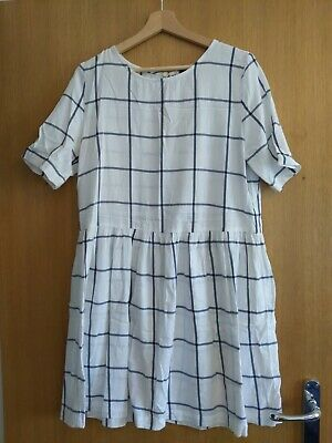 £1.40 • Buy Marks And Spencer White Check Smock Dress Size 12