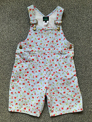 £15 • Buy Mini Boden Floral Girls Dungarees Shorts 3-4 Years