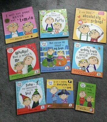 £14.99 • Buy 9 X Childs Charlie And Lola Books (3 Hardback And 6 Paperback)
