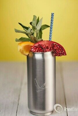 £13.95 • Buy New GREY GOOSE VODKA Brushed Stainless Steel Soda Tumbler Glass Insulated Can