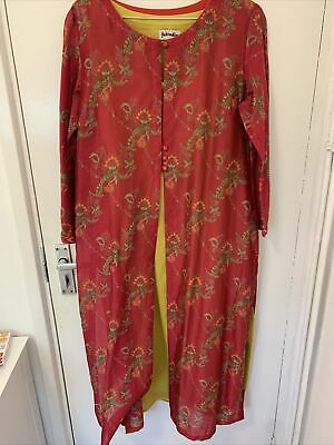 £44.95 • Buy Stunning Cotton/silk Dress And Jacket From Fabindia Size L Worn Once