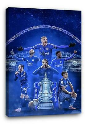 £29.99 • Buy LEICESTER CITY BB3 FA CUP CANVAS Wall Art Poster Print 30x20 CANVAS