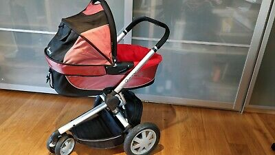 £29.99 • Buy QUINNY BUZZ Fold Up Travel System Cot , Pram And Car Seat 3 - In 1  Red / Black