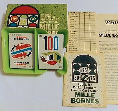 $50 • Buy Vintage Mille Bornes French Card Game Racing  1962  Parker Brothers Mint Sealed