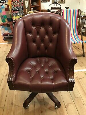 £275 • Buy Leather Captain's Chair Desk Chair