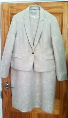 £20 • Buy HOBBS, Size 18, Linen, Ivory Dress And Jacket, Excellent Condition