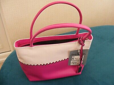 £6 • Buy Brand New With Tags Jane Shilton Pink And Cream Real Leather Grab Bag