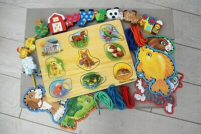 £3.50 • Buy Small Wooden Toy Bundle Including Melissa And Doug Puzzle