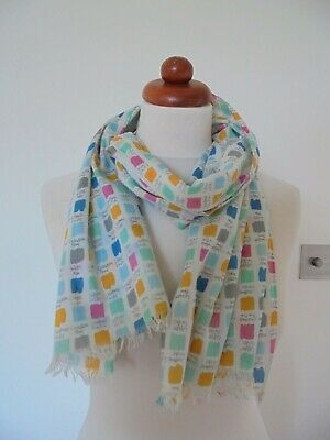 £6.50 • Buy Seasalt - The Lovely Cotton 'new Everyday Scarf' In A Pretty Paint Swatch Design