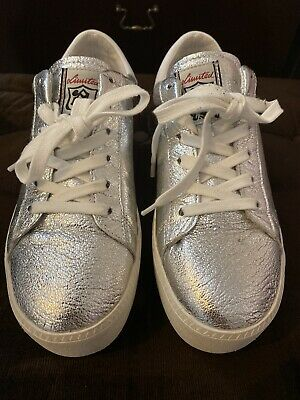 £35 • Buy ASH Cult Silver Leather White Flash Platform Trainers Uk5