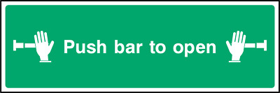 £3.02 • Buy Push Bar To Open Sign