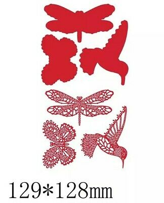 £5.50 • Buy 6pc Bird, Dragonfly & Butterfly Metal Cutting Die Back To Nature Lace Design