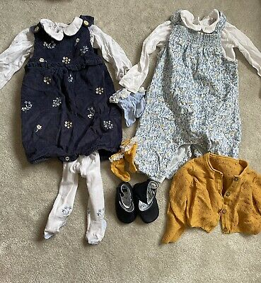 £5.99 • Buy Baby Girls 3-6 Months Bundle. Matching Tu Sets With Socks And Shoes