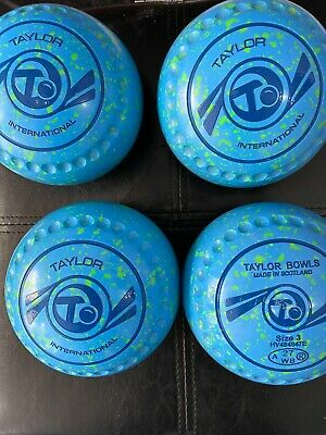 £155 • Buy Taylor International Lawn Bowls - Size 3 - Stamped 2027