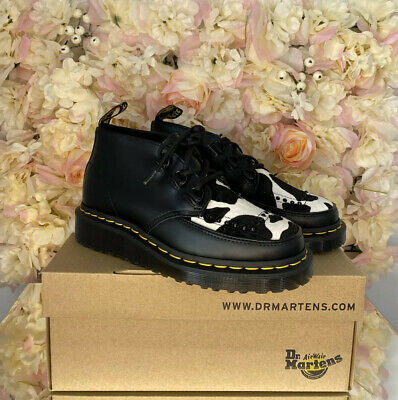 £109 • Buy Dr Martens Leather Ramsey Chukka Cow Printed Hair Creepers UK 4 BRAND NEW RARE
