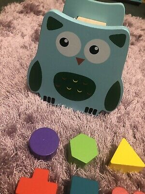 £2.50 • Buy Young Children's Wooden Owl Shape Sorting Puzzle