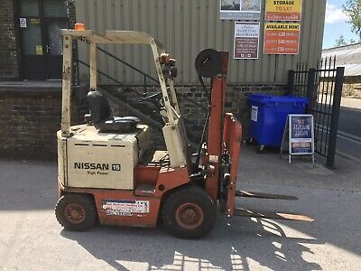 £1850 • Buy Fork Lift Truck Nissan 15 Electric, Low Hours, Side Shift, Pneumatic Tyres
