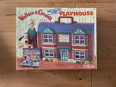 £20 • Buy Vintage 1989 Wallace And Gromit Playhouse Carry Set & Figures ~ Playset Boxed