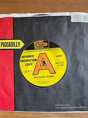 £10 • Buy Soul Northern Mod - Jimmy James No Good To Cry Piccadilly DEMO 7N35374