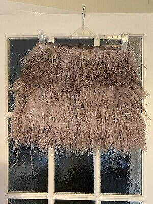 £20 • Buy Gorgeous Rare Topshop Ostrich Feather Mini Skirt Size 10 RRP £120 Like Semsem