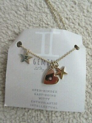 £7 • Buy Brand New Gemini Necklace With K Initial