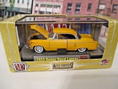 $7.55 • Buy M2 Machines Auto-Thentics 1955 Dodge Royal Lancer Yellow 1/64 Scale Rubber Tires